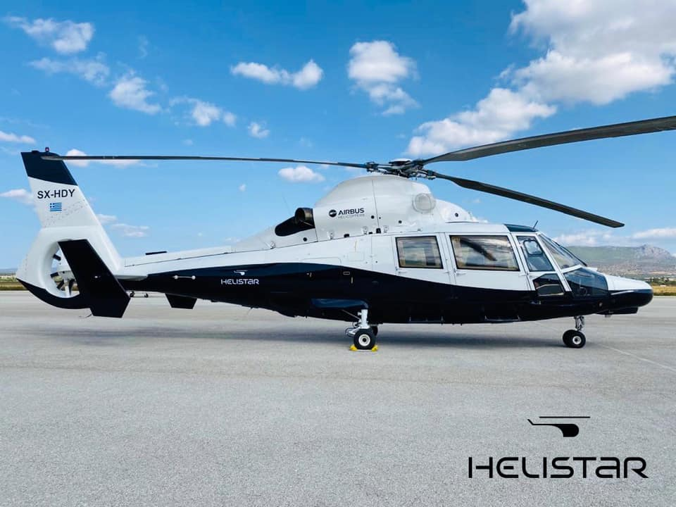Airbus AS365 -helicopter with luxurious VVIP configuration